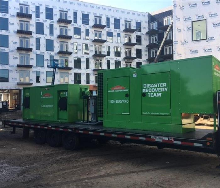 Large heavy duty SERVPRO water removal equipment